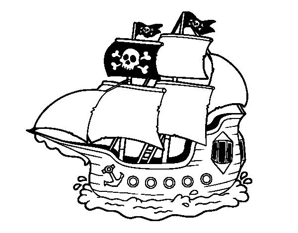 Coloriage de pirate bateau pour colorier - Imagenes de barcos infantiles ...