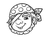 <span class='hidden-xs'>Coloriage de </span>Pirate simple à colorier