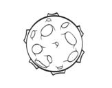 <span class='hidden-xs'>Coloriage de </span>Planète avec des cratères à colorier