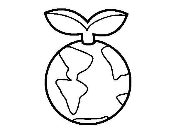 Coloriage de Planète propre pour Colorier