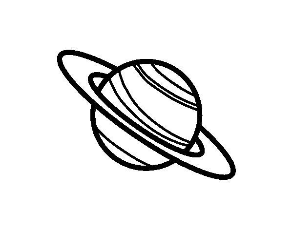 Coloriage de Planète Saturne pour Colorier
