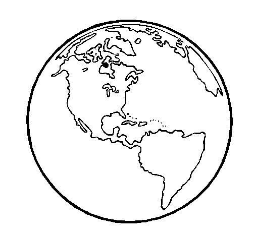 Coloriage de Planète Terre pour Colorier