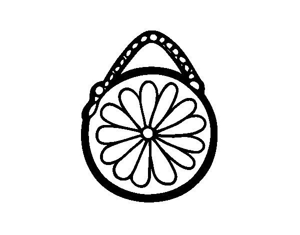 Coloriage de Pochette ronde pour Colorier