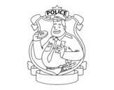 <span class='hidden-xs'>Coloriage de </span>Police avec beigne à colorier