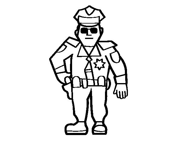 Coloriage de police municipale pour colorier - Police coloriage ...