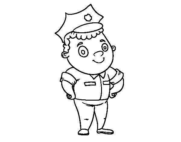 Coloriage de Police officier pour Colorier
