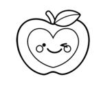 <span class='hidden-xs'>Coloriage de </span>Pomme coeur à colorier