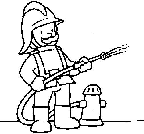 Coloriage de Pompier 1 pour Colorier