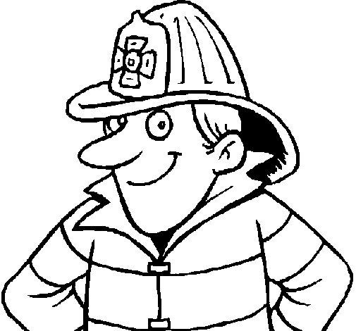 Coloriage de Pompier 2 pour Colorier