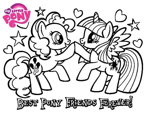 Coloriage de Poney Meilleurs amis pour toujours pour Colorier