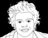<span class='hidden-xs'>Coloriage de </span>Portrait de Harry Styles à colorier