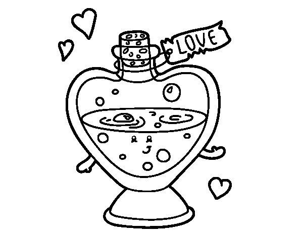 Coloriage de Potion d'amour pour Colorier