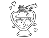 <span class='hidden-xs'>Coloriage de </span>Potion d'amour à colorier