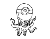 <span class='hidden-xs'>Coloriage de </span>Poulpe Minion à colorier