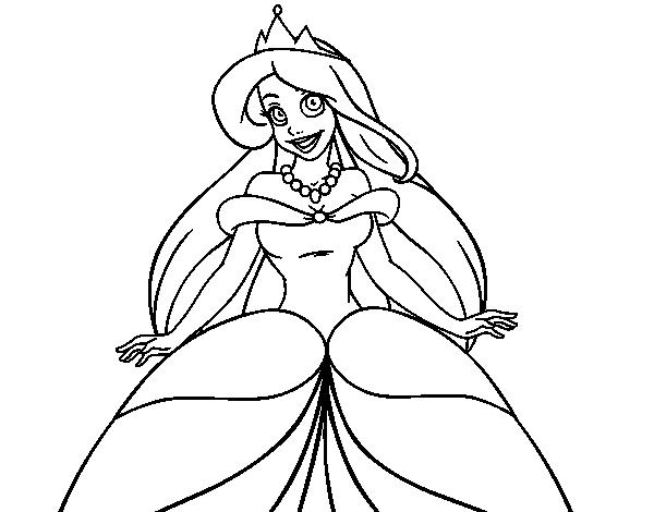 Coloriage de princesse ariel pour colorier - Coloriage princesse ariel ...