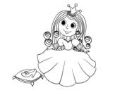 <span class='hidden-xs'>Coloriage de </span> Princesse et pantoufle de verre à colorier