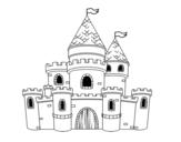 <span class='hidden-xs'>Coloriage de </span>Princesses Château à colorier