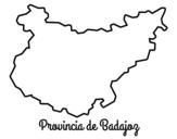 <span class='hidden-xs'>Coloriage de </span>Province de Badajoz à colorier