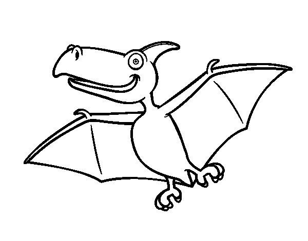 Coloriage de Pterodactylus pour Colorier
