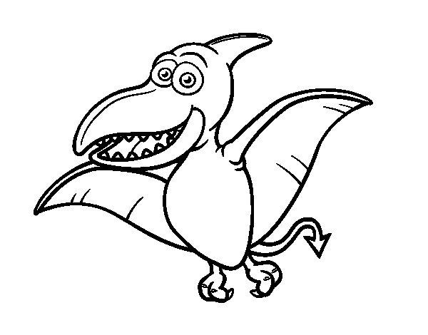 Coloriage de Ptérosaure pour Colorier
