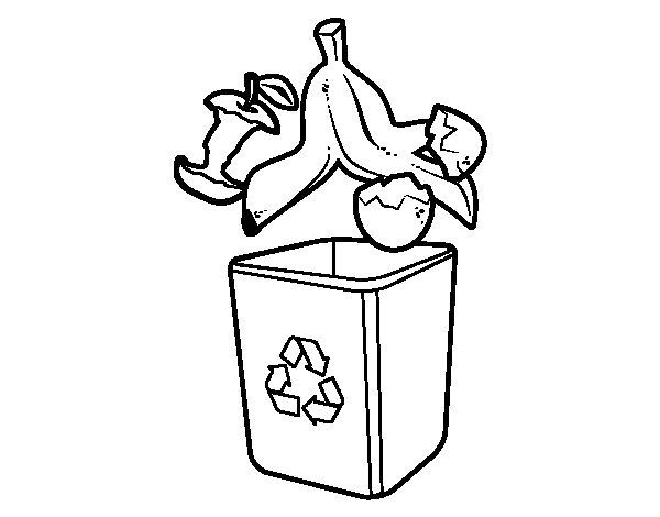 Coloriage de Recyclage organique pour Colorier