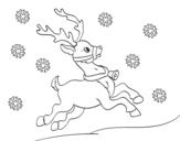 <span class='hidden-xs'>Coloriage de </span>Renne de Noël à colorier
