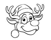 Dibujo de Renne face Rudolph