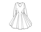 <span class='hidden-xs'>Coloriage de </span>Robe avec jupe complète à colorier