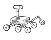 <span class='hidden-xs'>Coloriage de </span>Robot lunaire à colorier