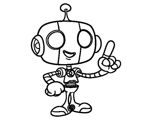 Coloriage de robot sympathique pour colorier - Coloriage franky le robot ...