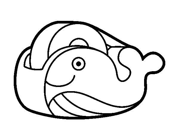 Coloriage de Ruban adhésif baleine pour Colorier