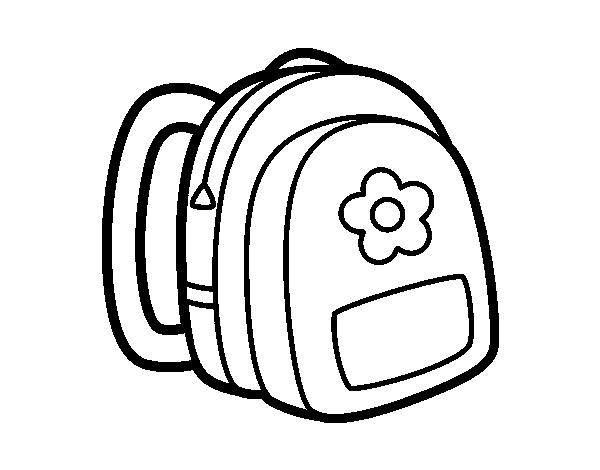 Coloriage de sac dos fille pour colorier - Coloriage sac a dos ...