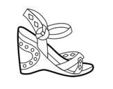 <span class='hidden-xs'>Coloriage de </span>Sandale à talons à colorier