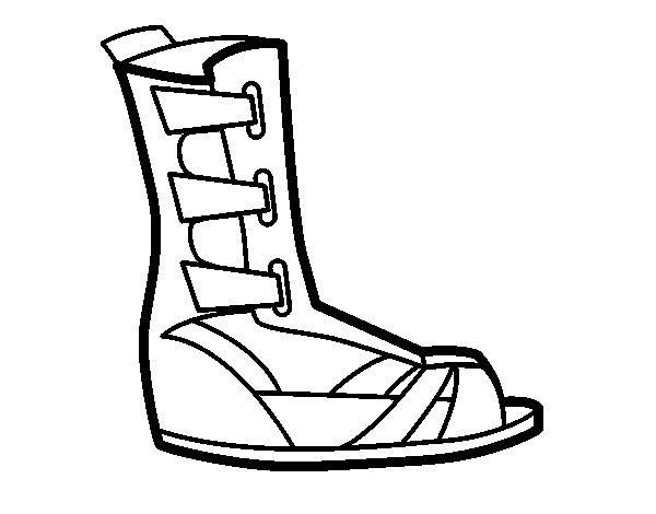 Coloriage de Sandale romaine pour Colorier
