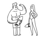 Dibujo de Sauveteurs
