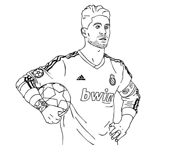 soccer coloring pages ronaldo hair - photo#16