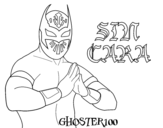 <span class='hidden-xs'>Coloriage de </span>Sin Cara à colorier