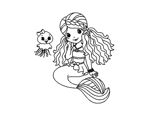 J Is For Jellyfish Coloring Page Coloriage de Sirè...
