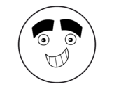 <span class='hidden-xs'>Coloriage de </span>Smiley avec de gros sourcils à colorier