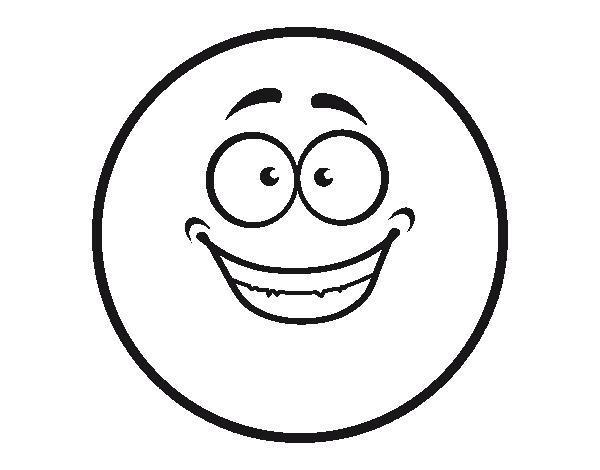 Coloriage de Smiley heureux pour Colorier - Coloritou.com