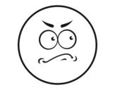 <span class='hidden-xs'>Coloriage de </span>Smiley soupçonneux à colorier