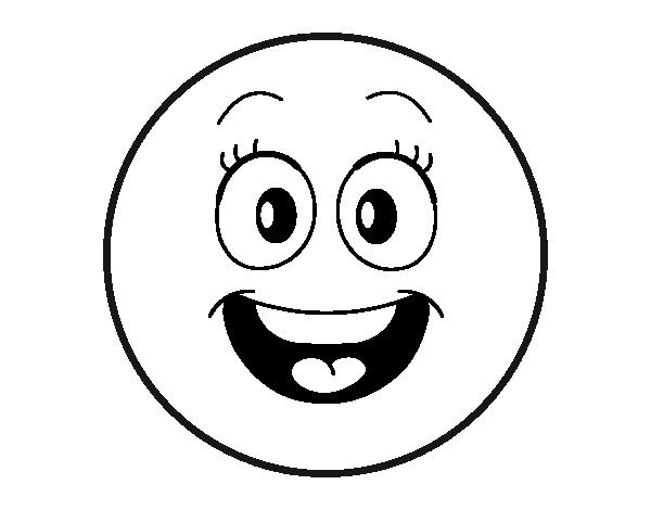 Coloriage de smiley pour colorier - Smiley a imprimer ...