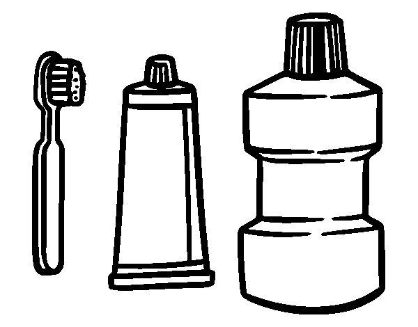 Coloriage de Soins de la bouche pour Colorier