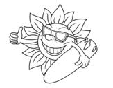 Dibujo de Soleil Surfer
