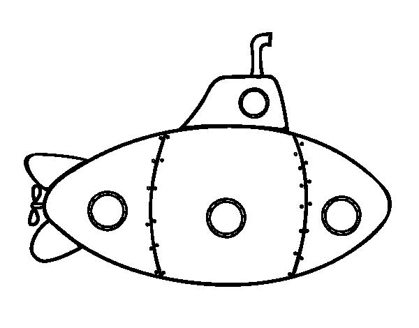 Coloriage de sous marin militaire pour colorier - Coloriage sous marin ...