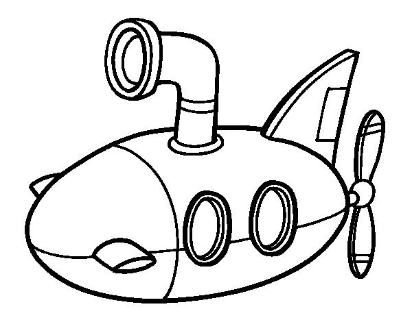 Coloriage de sous marin pour colorier - Coloriage sous marin ...