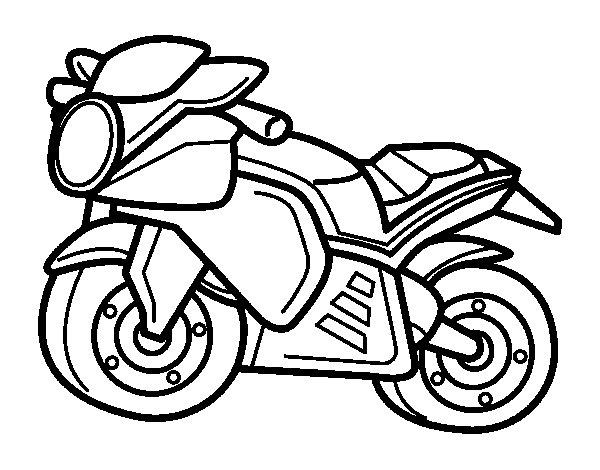 Coloriage de sportif moto pour colorier - Moto a colorier en ligne ...