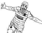 Dibujo de Suárez  Célébrer un but