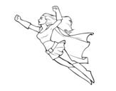 <span class='hidden-xs'>Coloriage de </span>Super girl volant à colorier