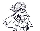 <span class='hidden-xs'>Coloriage de </span>Super girl à colorier